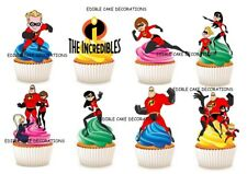 30 The Incredibles STAND UP Cupcake Fairy Topper Edible Paper Decoration Party