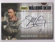 Walking Dead season 4 pt. 2 autograph card Sonequa Martin-Green SMG2