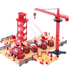 Truck Play Set,Emergency Rescue Vehicles w/ Station,Toys for 4-5 year old boys