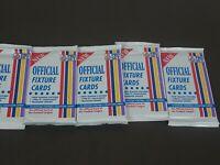 Lot of 5 1990-91 English Premier League Pro Set Fixture Football Sealed Packs
