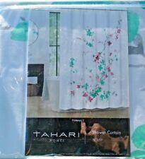 "Tahari FabricFloral  Shower Curtain Printemps 2  Green/Lavender /White 72"" x 72"""