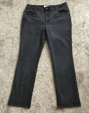 """FADED GLORY Womens Size 16 Gray Jeans Narrow Stretch Boot Cut 31.5"""" Inseam"""
