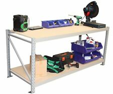 Longspan Work bench with Solid Timber Top & Safety Caps - 1200Wx600D - WA