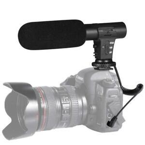 externes Interview Video 3,5mm Aufnahme Kamera Mikrofon 4 Nikon Canon DSLR DV DE