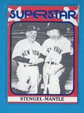 MICKEY MANTLE--CASEY STEENGEL 1982 SUPERSTAR 2nd Series #90 Tough! HOF