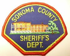 OLD SONOMA COUNTY SHERIFF'S DEPT. PATCH CA CALIFORNIA - RED BORDER