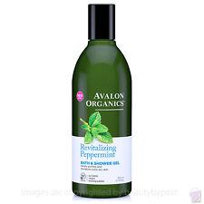 Avalon Organics Revitalising Peppermint BATH and SHOWER GEL 355ml