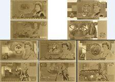 FULL SET 1970-1992 OLD UK POUNDS 1-50 GOLD 24K 5 NOTES PICK 377 378 379 380 381