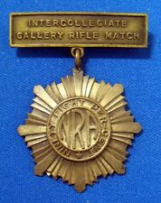 1920-30's NRA Inter Collegiate Gallery Rifle Match Has High Rating of 98 Percent