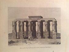 TEMPIO DI HERMOPOLIS ALTO EGITTO ANTICO acquaforte orig. XIX sec. DENON VIVANT