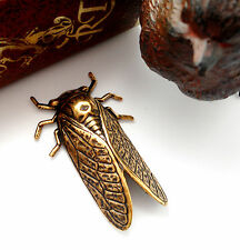 ANTIQUE BRASS Insect Beetle CICADA Stamping Jewelry Oxidized Finding  (FA-6045)