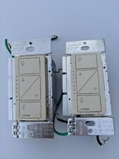 2 Light Almond Caseta Wireless Dimmers PD-6WCL
