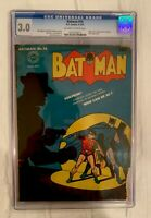 Batman #16, 1943, CGC 3.0 OW-White Pages Unrestored 1st app of Alfred Pennyworth