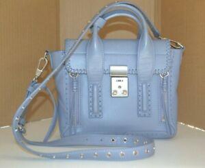3.1 PHILLIP LIM Blue Pashli MINI MED crossbody shoulder Bag Used Tags Good Cond