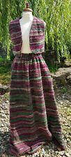 Vintage wool blend boucle maxi skirt / gilet  2 piece set