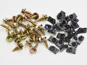 "Mopar Fender Bolts & U Nuts Black Zinc Coated 5/16-18 1-1/16 1/2"" Hex Dog Point"