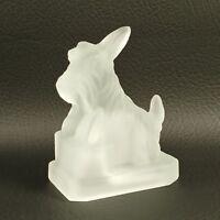 #11 Crystal Satin JB SCOTTIE Boyd's Crystal Art Glass Scottish Terrier Scotty