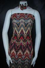 Rayon Stretch Jersey Knit Fabric  Beautiful print rayon spandex Big Chevron Wave