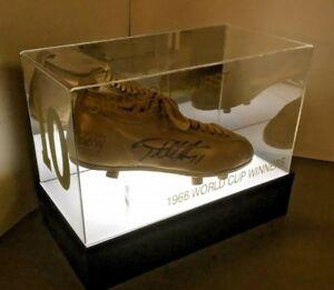 Illuminated Football Boot Acrylic Display CASE   UK Manufacturer