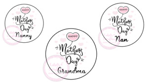 Happy Mothers Day Nan Nanny Stickers Gift Box Sweet Cones Sweet Hamper Gift Bag