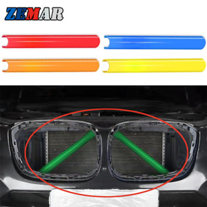 2Pcs 5 Colors Front Grill Trim Stripes For BMW X3 F25 X4 F26 Grille Accessories