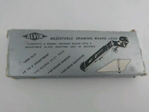 """Vintage Alvin Adjustable Drafting Drawing Board Legs 6""""x8"""" Architects"""