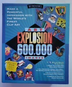 Windows ART EXPLOSION 600,000 Images Clip Art by Nova 29 Discs.