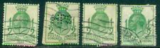 Great Britain Sg-434, Scott # 205, Used, Faults, 4 Stamps, Great Price!