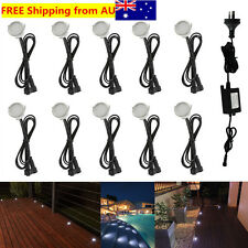 10X 31mm Cool White IP67 12V Outdoor Yard Path Stairs Patio LED Pool Deck Lights
