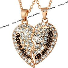 Rose Gold Heart Necklaces for Mother Daughter Xmas Gifts for Her Women Girl Mum