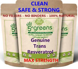 Resveratrol Extract 500mg Veg Capsules ( 50% Trans - Resveratrol - 250mg )