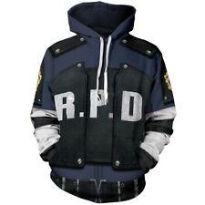Resident Evil Leon S. Kennedy 3D Print Cosplay Hoodie Jacket Uniform Costume