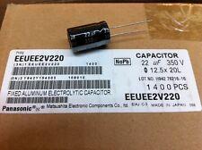 (50 pcs.) EEU-EE2V220 - Panasonic, 22uF 350v 105c Radial Lytic Capacitor