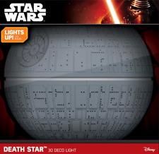 Death Star 3D Wall Light Star Wars Darth Vader The Last Jedi Night Light NEW