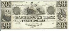 $20 Hagerstown Bank Note Maryland Maids Await Ship Baby Cattle Gem Uncirculated