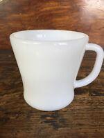 "Vtg Federal Milk Glass Coffee Mug D Handle White Heat Proof Tea Cup USA 3 1/4"""