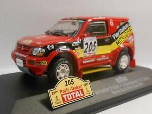 WOW EXTREMELY RARE Mitsubishi Pajero Gen3 Evo #205 Dakar 2001 1:43 Vitesse-Spark