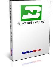 Burlington Northern Yard Maps 1970 - PDF on CD - RailfanDepot