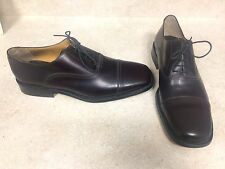 "NEW !! ""To Boot New York"" Captoe Oxford Shoes • 12 • Brown Leather $395 ITALY"