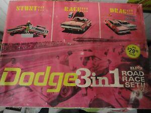Vintage Used 1968 Eldon Dodge 3 in 1 Road Race Slot Car Set No Cars