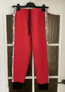 NEW Authentic Burberry Kids Red Logo Sports Pants Size 10 Years