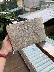 Gennuine Crocodile Leather Handbag Clutch Bag Purse, Clutch Wristlet Wallet