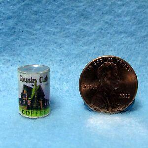 Dollhouse Miniature Replicae Country Club Coffee Can HR57111