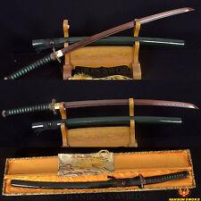 Handmade Japanese Samurai Katana Sword Damascus Steel Black&Red Blade Very Sharp