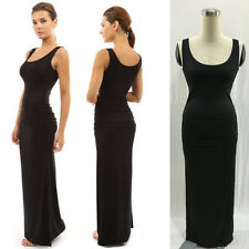 UK Ladies Bodycon Strapless Summer Stretch Long Maxi Beach Party Evening Dresses