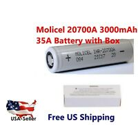 1 x Molicel Wholesale 20700A 35A Rechargeable High Drain Battery flat top - New