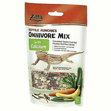 New listing 5 Bag 12/21 Zilla Munchies 4 Calcium Omnivore Mix +3.75oz Mealworms Reptile Food