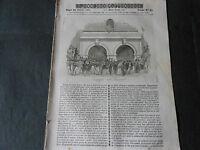 1843 TUNNEL DI PARIGI OSPIZIO DEL S.BERNARDO CAMPANILE VALENCIENNES GIOTTO