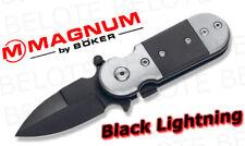 Boker Magnum Black Lightning Folder w/ Clip 01SC148 NEW