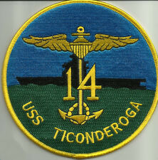 NAVY USS TICONDEROGA CV/CVA/CVS-14 ESSEX CLASS AIRCRAFT CARRIER MILITARY PATCH
